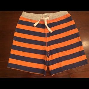 Mini Boden Orange Striped Shorts Boys Size 7